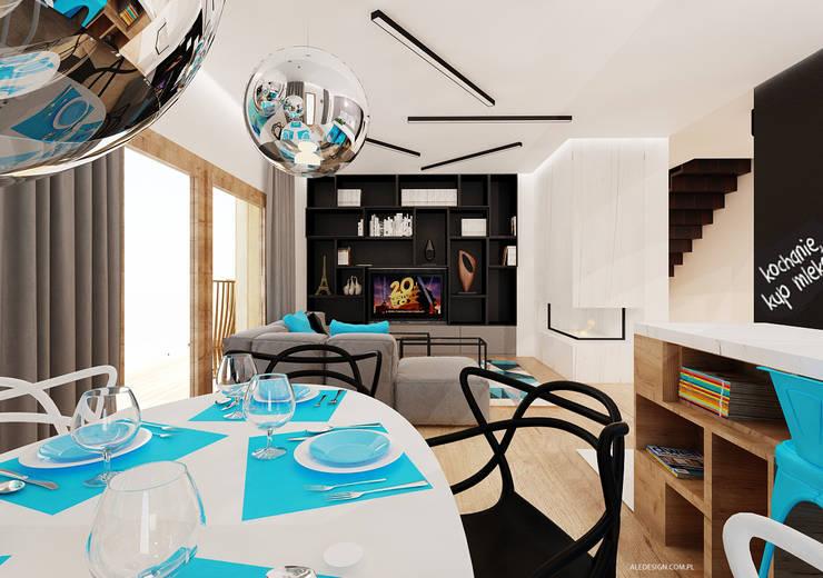 Salon z kuchnią: styl , w kategorii Salon zaprojektowany przez Ale design Grzegorz Grzywacz,Minimalistyczny