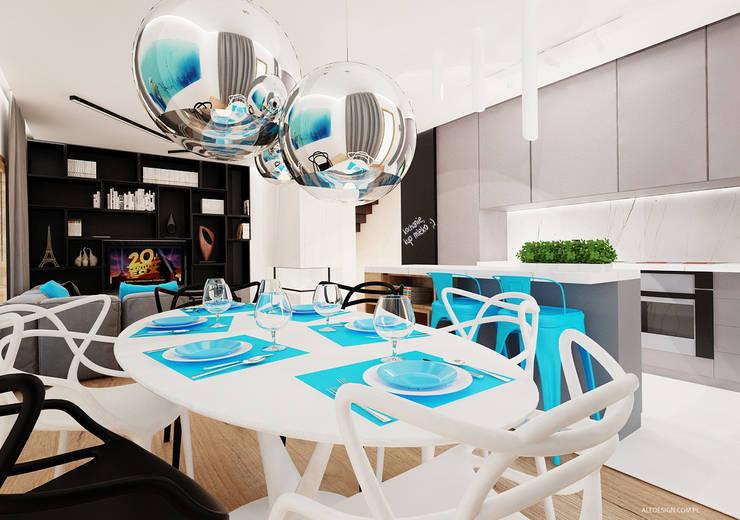 Jadalnia: styl , w kategorii Jadalnia zaprojektowany przez Ale design Grzegorz Grzywacz,Minimalistyczny