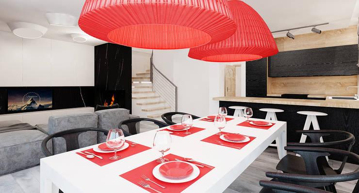 Salon domu katalogowego inaczej : styl , w kategorii Jadalnia zaprojektowany przez Ale design Grzegorz Grzywacz,Minimalistyczny