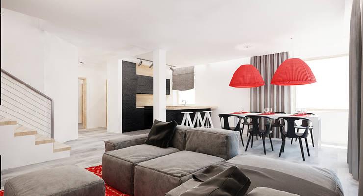 Salon domu katalogowego inaczej : styl , w kategorii Salon zaprojektowany przez Ale design Grzegorz Grzywacz,Nowoczesny