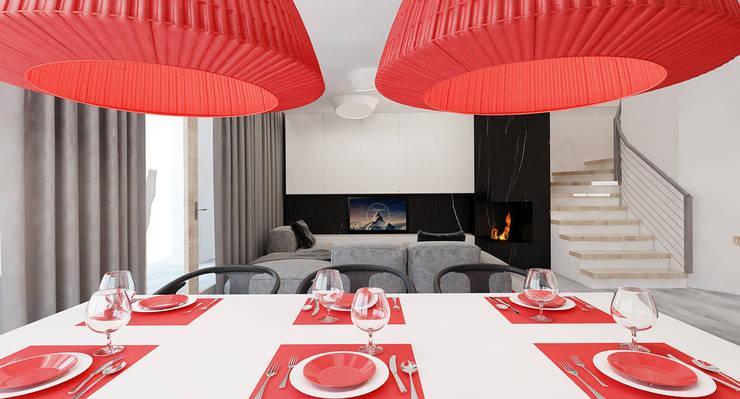 Salon domu katalogowego inaczej : styl , w kategorii Jadalnia zaprojektowany przez Ale design Grzegorz Grzywacz,Nowoczesny