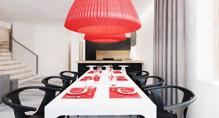 Salon domu katalogowego inaczej : styl , w kategorii Kuchnia zaprojektowany przez Ale design Grzegorz Grzywacz,Nowoczesny