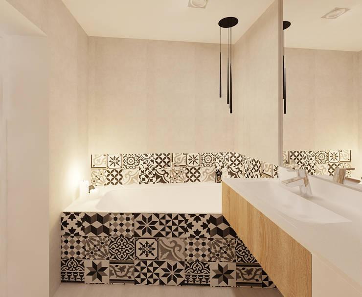 łazienka 1 wersja: styl , w kategorii Łazienka zaprojektowany przez Ale design Grzegorz Grzywacz