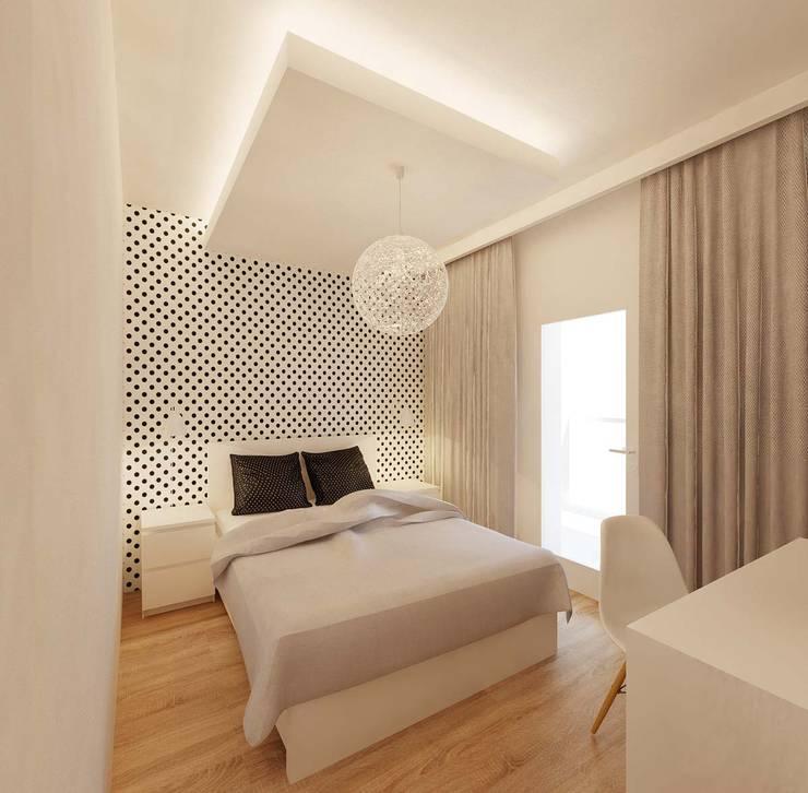 Chambre de style de style Minimaliste par Ale design Grzegorz Grzywacz