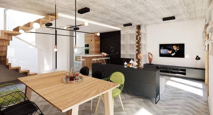 Comedores de estilo minimalista por Ale design Grzegorz Grzywacz