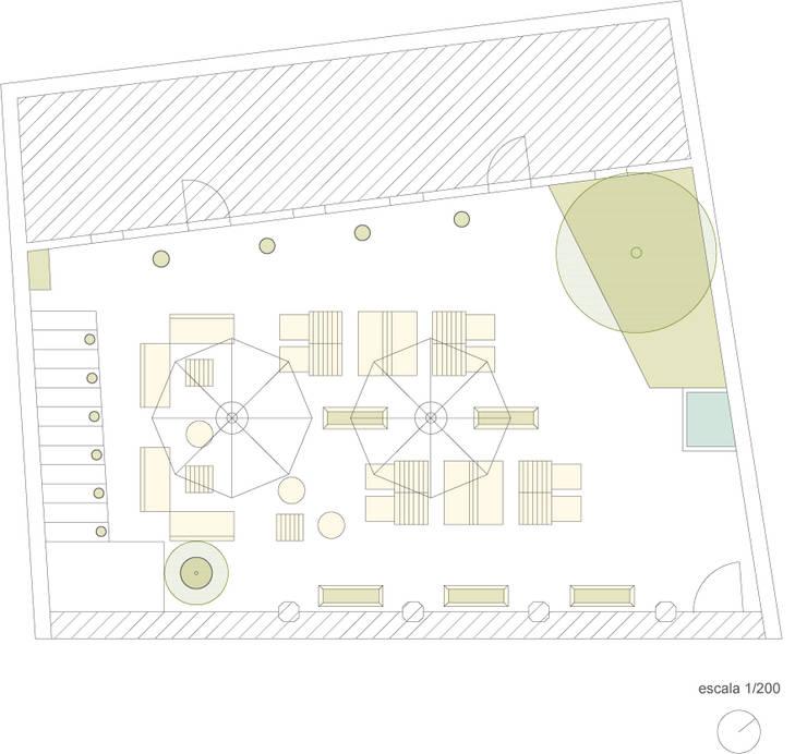 CASINHA BOUTIQUE CAFÉ – VIANA DO CASTELO: Espaços de restauração  por Habitat Arquitectura Paisagista