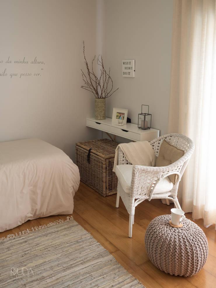 Quarto Sonho | Depois: Quartos  por MUDA Home Design