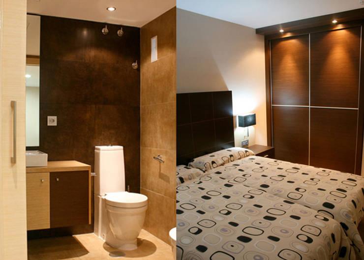 Apartamento Tauro: Habitaciones de estilo moderno por Arquint Colombia
