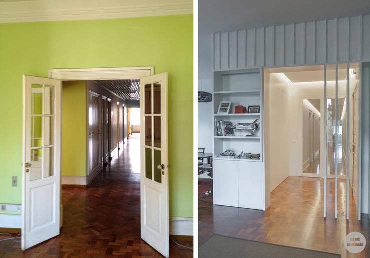 Remodelação de apartamento Avenidas Novas, Lisboa:   por Matos + Guimarães Arquitectos