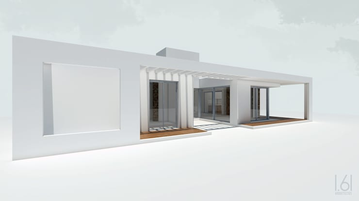 vista norte: Casas de estilo  por 1.61 Arquitectos