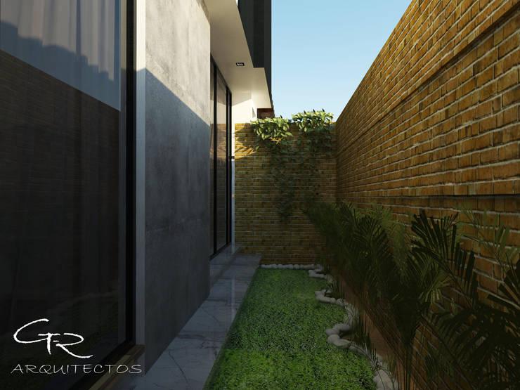Jardines de estilo  por GT-R Arquitectos