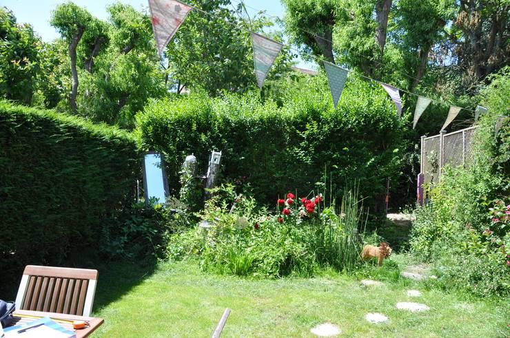 voor en na van ongestructureerde wildernis naar landelijke tuin. Black Bedroom Furniture Sets. Home Design Ideas