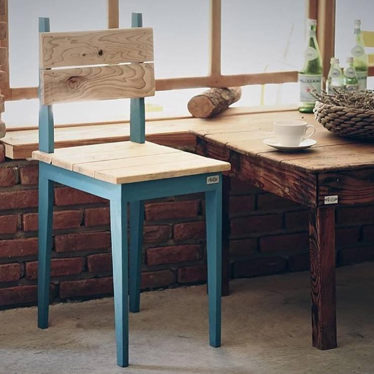 Atölye² Design – Sottile Sandalye: minimal tarz tarz Oturma Odası