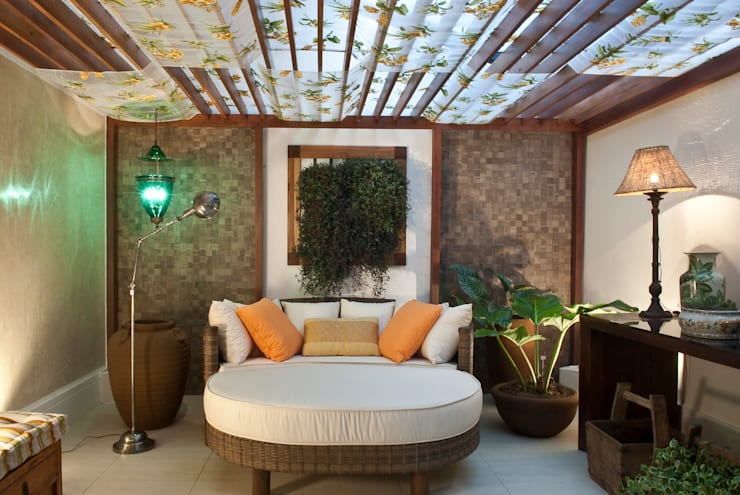 Casa Cor Rio 2009: Terraços  por Emmilia Cardoso Designers Associados