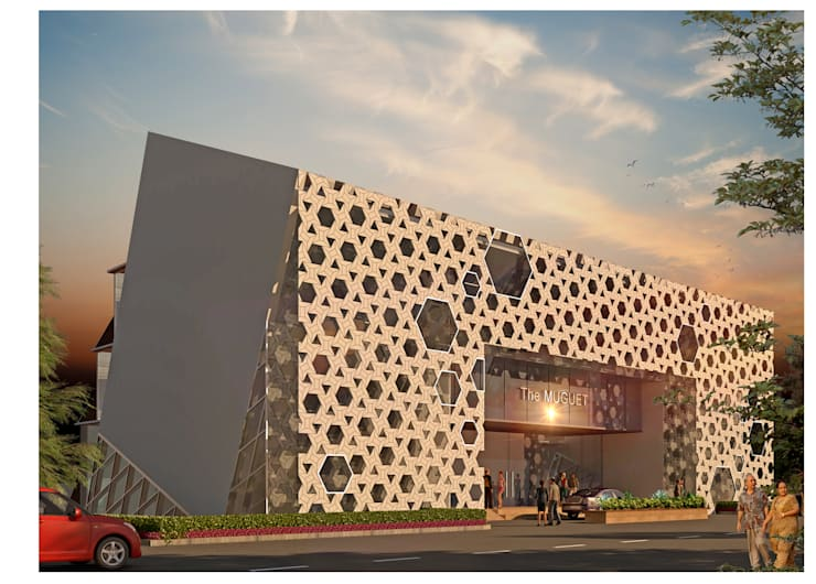 the entrance:  Hotels by Purple Architecture,Modern Reinforced concrete