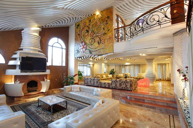 Pasillos y recibidores de estilo  por Purple Architecture