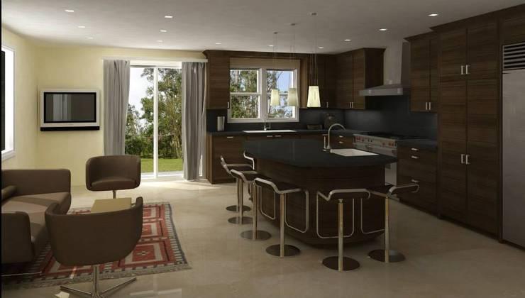 INTERIOR RENDERING:  de estilo  por ARO - Architectural Rendering Office
