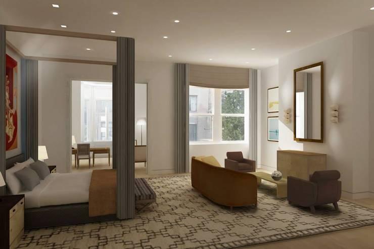 GREENWICH VILLAGE TOWNHOUSE – NEW YORK CITY de ARO - Architectural Rendering Office Moderno
