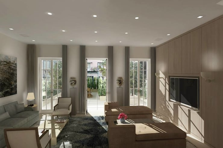 GREENWICH VILLAGE TOWNHOUSE – NEW YORK CITY:  de estilo  por ARO - Architectural Rendering Office