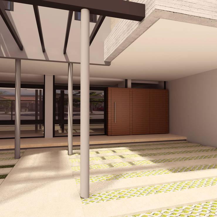 Viviendas JRV: Garajes de estilo  por Comodo-Estudio+Diseño
