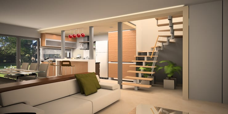 Projekty,  Kuchnia zaprojektowane przez Comodo-Estudio+Diseño