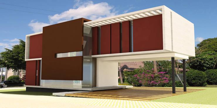 Vivienda Jass: Casas de estilo  por Comodo-Estudio+Diseño
