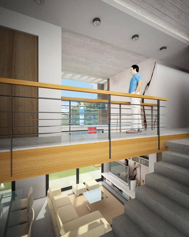 Vivienda Jass: Pasillos y recibidores de estilo  por Comodo-Estudio+Diseño