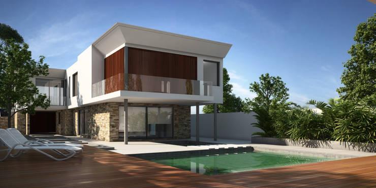 Vivienda familiar:  de estilo  por Arquitecta Fernanda Isola