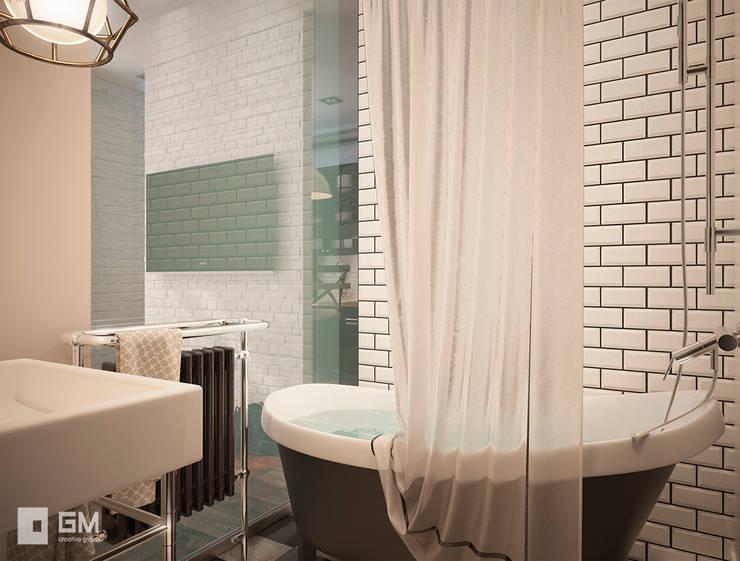 scandinavian Bathroom by GM-interior