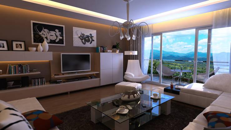 Modern living room by HYEJEONG JO Modern