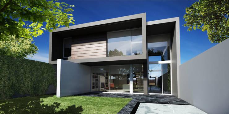 Fachada posterior Casas modernas: Ideas, imágenes y decoración de FT Arquitectura Moderno
