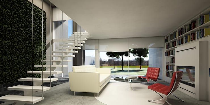 Living Comedor Livings modernos: Ideas, imágenes y decoración de FT Arquitectura Moderno