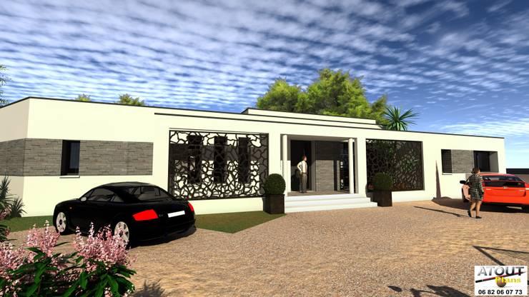 Maison individuelle Avignon: Maisons de style de style Moderne par Atoutplans Architecture