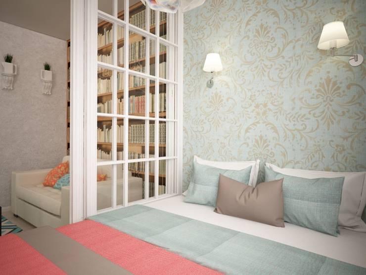 Однокомнатная квартира ЖК Водный: Спальни в . Автор – дизайн-бюро ARTTUNDRA