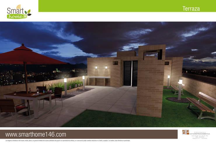 Terrazas de estilo  por AP Construcciones S.A.