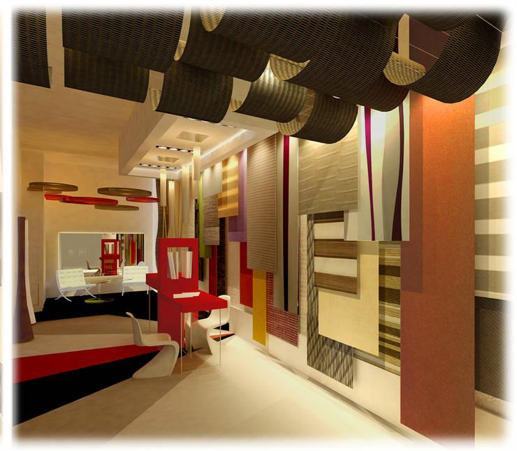 FlexColor Showroom Centros de exposiciones de estilo moderno de GPA studio Moderno