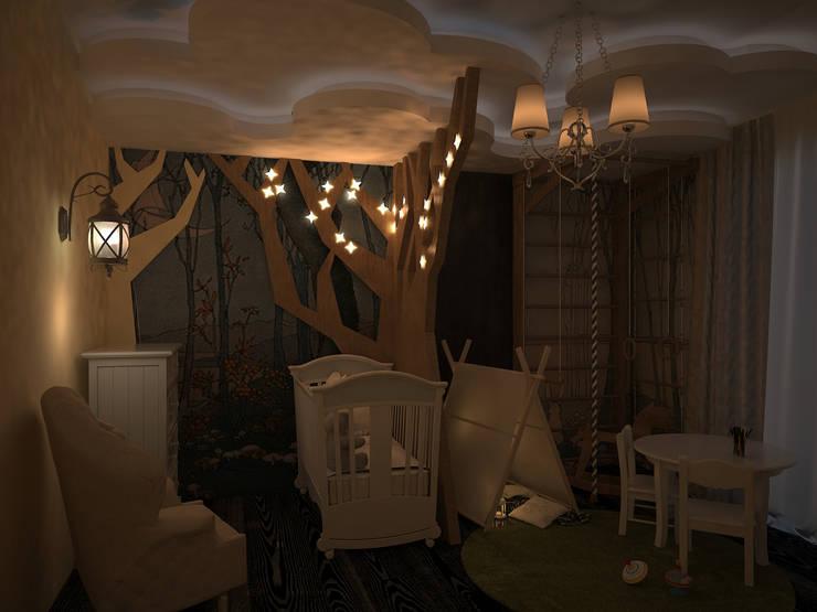 Детская комната для фантазеров: Детские комнаты в . Автор – 16dots
