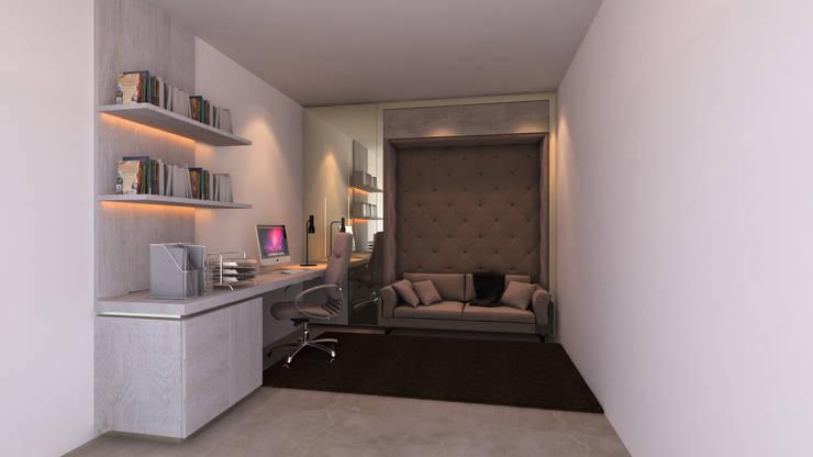 Home Office France: Escritório  por Mdimension