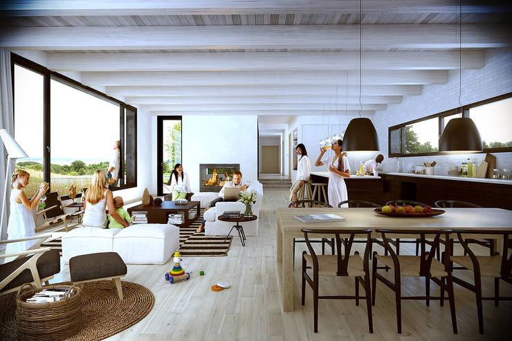 House:  de estilo  por Estudio A2T