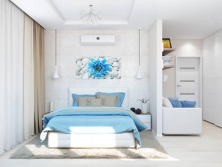 Chambre de style  par Tatiana Zaitseva Design Studio, Minimaliste