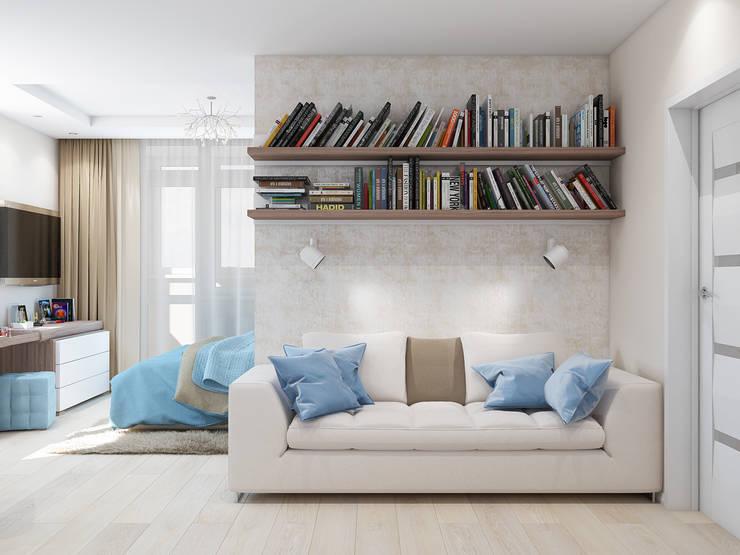 Декор спальни: Спальни в . Автор – Tatiana Zaitseva Design Studio