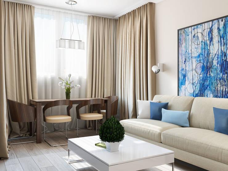 Salon de style  par Tatiana Zaitseva Design Studio, Minimaliste