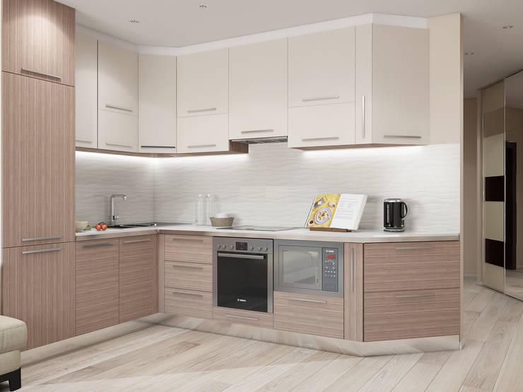 кухонная мебель со встроенной бытовой техникой: Кухни в . Автор – Tatiana Zaitseva Design Studio