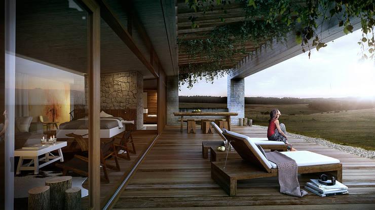 Tierra Garzon Hotel:  de estilo  por Estudio A2T,