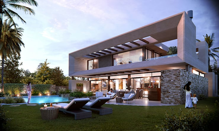 House in montevideo:  de estilo  por Estudio A2T,