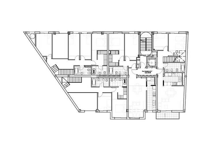 Cuarto Piso: Casas de estilo  por Pablo Anzilutti | Arquitecto