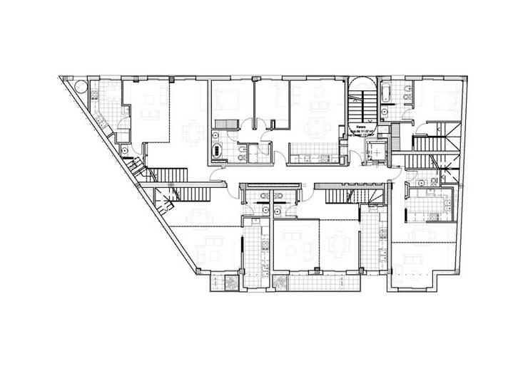 Quinto Piso: Casas de estilo  por Pablo Anzilutti | Arquitecto