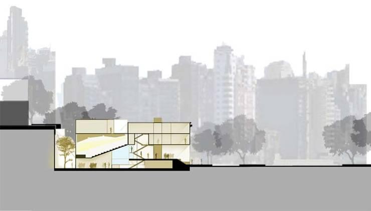 Esquema de relacion con el entorno: Estudios y oficinas de estilo  por Pablo Anzilutti | Arquitecto