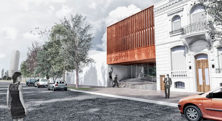 Fachada: Casas de estilo  por Pablo Anzilutti | Arquitecto
