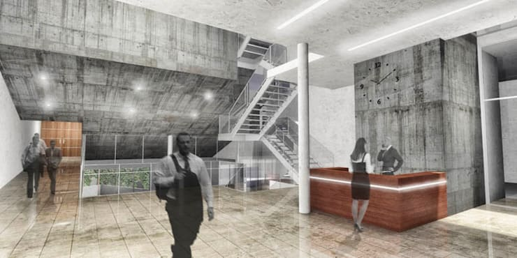 Hall de acceso: Estudios y oficinas de estilo  por Pablo Anzilutti | Arquitecto